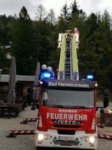 Übung der Feuerwehr Bad Kleinkirchheim